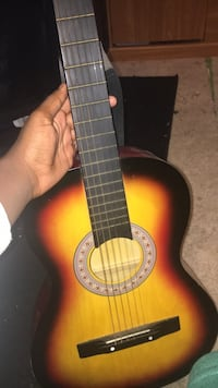 Black and red classical guitar Sterling, 20164