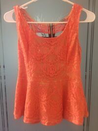 women's orange sleeveless top Ashburn, 20147