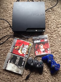 PS3 with 3 games & 2 controllers San Bruno, 94066