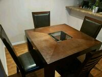 brown wooden dining table set Wheaton, 60189