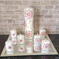 Hand decorated candle set Hamilton, L9B 0G7