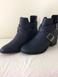 Womens Navy  ANKLE  BOOT