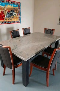 granite table with 6 chairs