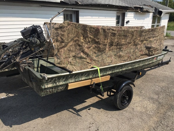 Mud Boats For Sale >> 14ft Flat Bottom Long Tail Mud Motor Duck Boat