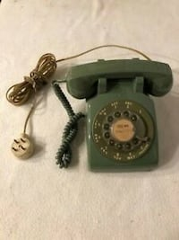Vintage Bell System Rotary Dial Telephone 500 C/D 5-76 Green Desk Phone