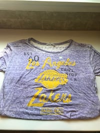 New Lakers womens burnout shirt, sz L Silver Spring, 20904