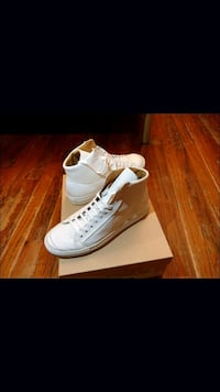 NEW Leather High-Top Sneakers w Free Gift Quincy