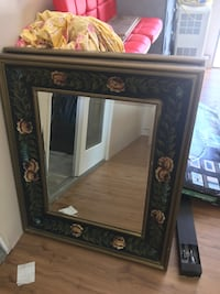 brown wooden framed wall mirror Newark, 94560