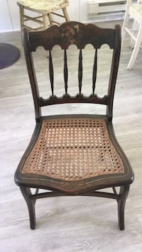 brown wooden framed padded chair Springfield, 22153