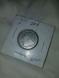 1875 20 cent piece New Braunfels