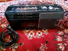 Sony radio tape recorder