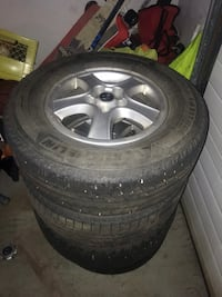 three winter tires are 235/70/16 and one is 225/70/16. Edmonton, T5X 6J9