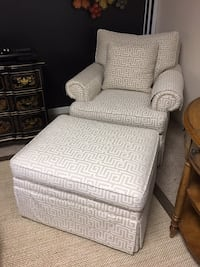 Ralph Lauren Chair and Ottoman