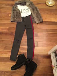 Zara trendy Jeans and Timberland booties  West Vancouver