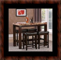 5pc Pub table with 4 stools Baltimore, 21215
