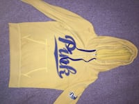 Victoria's secret Yellow and navy blue pullover hoodie