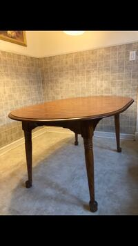 Hardwood table with chairs