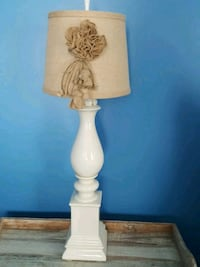 white and brown table lamp Henrietta, 14467