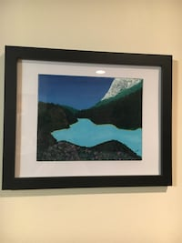 Framed acrylic painting of a lake Los Angeles, 91344