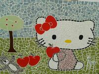 Obra de mosaico de Hello Kitty Umbrete, 41806