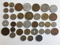 Collection of 35 pcs. 1890s to 1960s Antique World Coins Calgary, T2R 0S8
