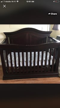 baby's brown wooden crib Burbank, 91501