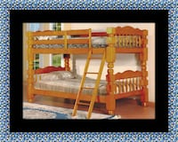 Wooden twin bunkbed frame with 2 mattress Takoma Park, 20912