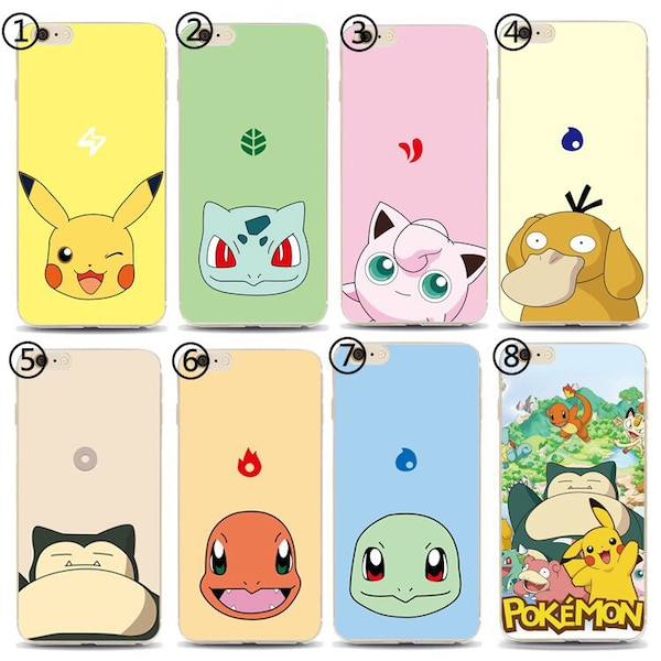 Pokemon Pikachu IPhone Samsung Xiaomi Huawei Oppo One Plus Phone Case