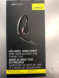 Jabra Strome , Bluetooth headset , Compatible with ios and android, battery-9hours Toronto, M9V 2X6