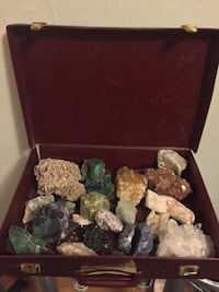 Selection of semi precious crystals, raw Toronto, M5T 1S2