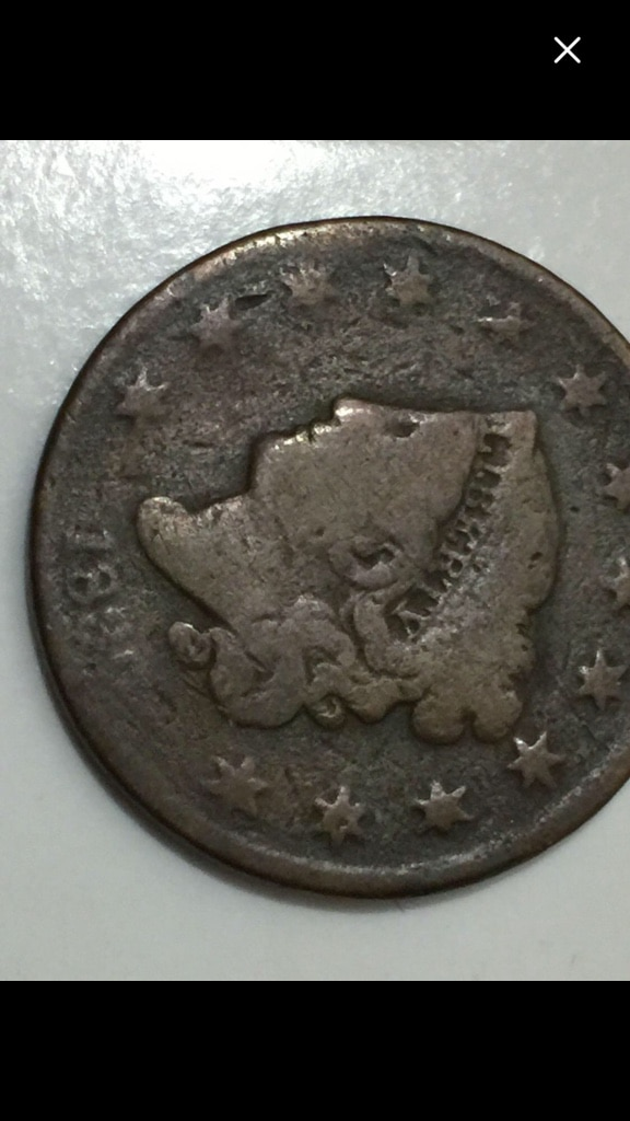 Photo 1830 Coronet Liberty Head Large Cents : Large Letters- Early Penny