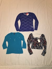 Three stylish tops, 2 of them are from Europe