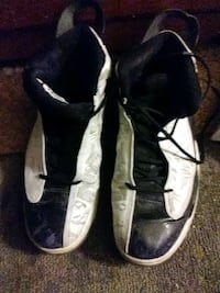 pair of black-and-white Air Jordan shoes Reading, 19601