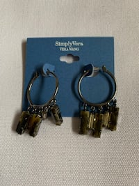 black and silver and silver hook earrings Glendale, 91205