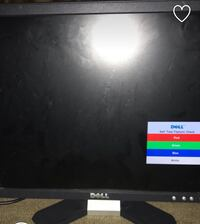 black DELL flat screen computer monitor