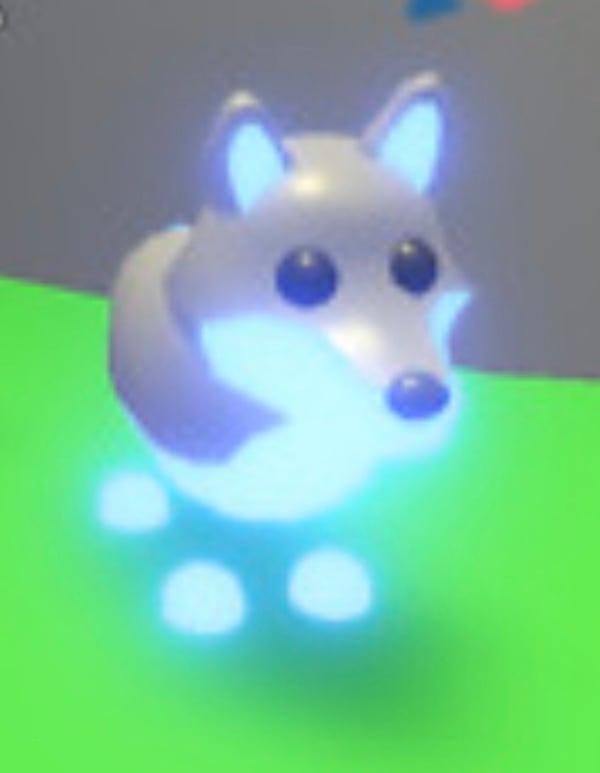 Used Roblox Adopt Me Neon Ride Fly Wolf Pet For Sale Letgo