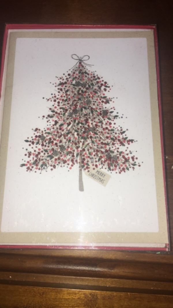 unopened glitter tree christmas cards