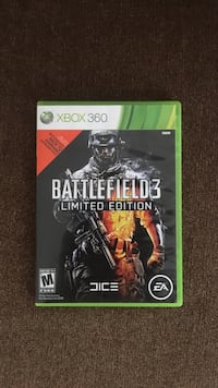 Battlefield 3 limited edition xbox 360 game case