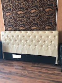 Queen leather bed frame w/ mattress Los Angeles, 90012