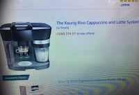 Keurig Rivo Coffee Machine Surrey, V3W 3P5