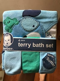 blue and green Terry bath set pack Morton, 61550