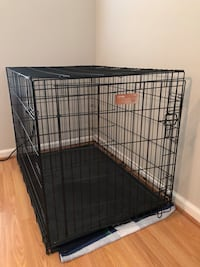 MidWest iCrate Single Door Fold & Carry Dog Crate, 42-in Kensington, 20895