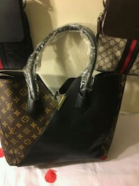black and brown Louis Vuitton monogram leather tote bag Silver Spring, 20904
