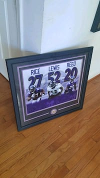 Ravens Picture Frame and Picture Washington