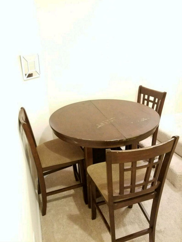 Used Counter Height Wooden Dinning Table For Sale In Norcross