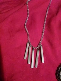 silver necklace with cross pendant