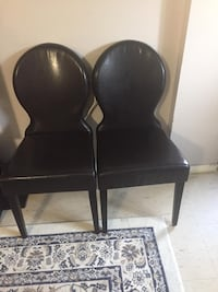 4 pleather dining chairs