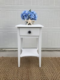 Solid wood farmhouse table with drawer and shelf.  Charleston, 29401