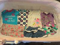 toddler's assorted color clothings