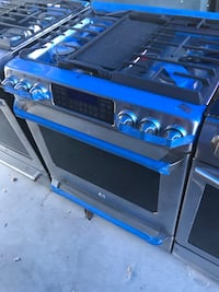 blue and black gas range oven Buena Park, 90621